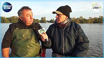 Au micro d'Eric Fauguet de Nantes & Vous TV, Didier Mace pêcheur de Loire explique la grande nécessité de réguler le Silure